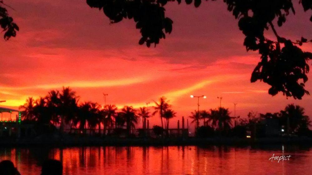 Sunset Red Sky Beach Lgcamera