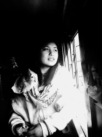 B&W Portrait Portrait Of A Friend Train Journey Window Seat Innocent Smile Eyes In Search Of Inspiration Light Rays Penetrating Friends ❤ Memories ❤ train journey to sikkim.memorable trip though it waa 7hours delayed forcing us to change the route originally planned. The Portraitist - 2015 EyeEm Awards