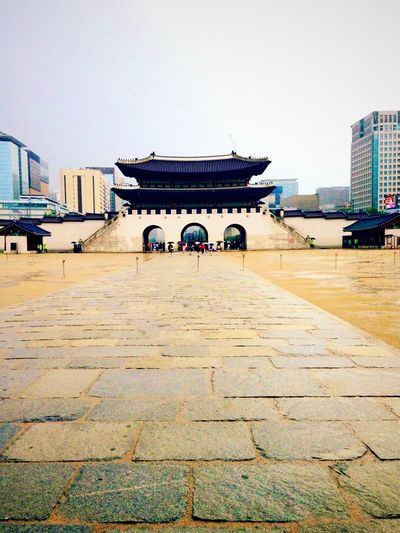 South Korea Architecture City Contrast Day Future Vs. The Past Historic Palace Sky South Korea Walkway TakeoverContrast