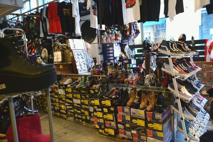 Trainers Gumshoes Window Shop Shoe Shop Shoe Store Boots Store Shoe Shelving Shelf Leather Crosses Shoes Colorful T-shirt T-shirts Tshirt Tshirts Box Boxes Shoebox Stockholm Sweden First Eyeem Photo