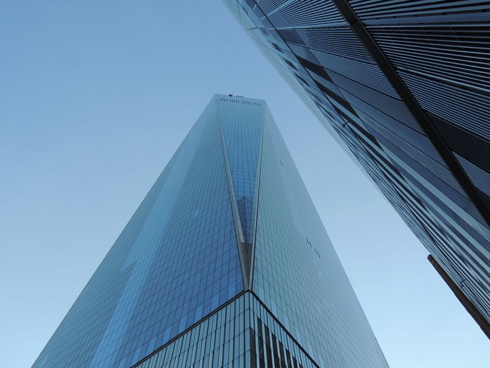 Low angle view of skyscrapers