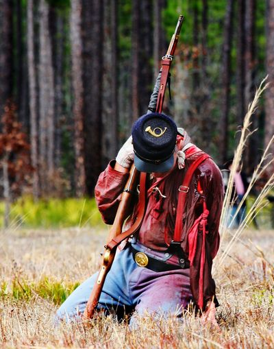 Civil War reenactment in north Florida. Civil War Olustee Florida