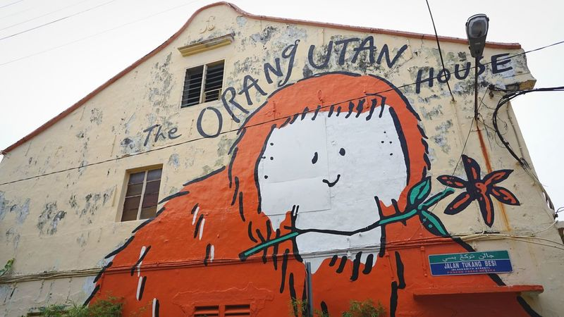 Malaysia Melaka Malacca Grafiti Wall Wall Painting Wall Drawing Orangutan Orang Utan Cartoon The Photojournalist - 2017 EyeEm Awards The Street Photographer - 2017 EyeEm Awards