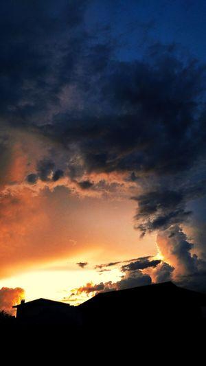 Sunset Astronomy Power In Nature Silhouette Dramatic Sky Orange Color Sky Cloud - Sky