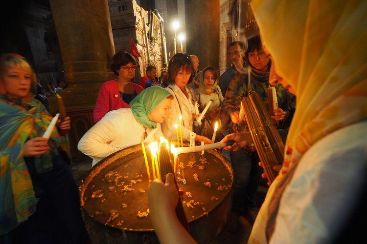 Piligrims Piligrim Church Burning Flame Glowing Candle Celebration Illuminated Religion Spirituality Tradition Indoors