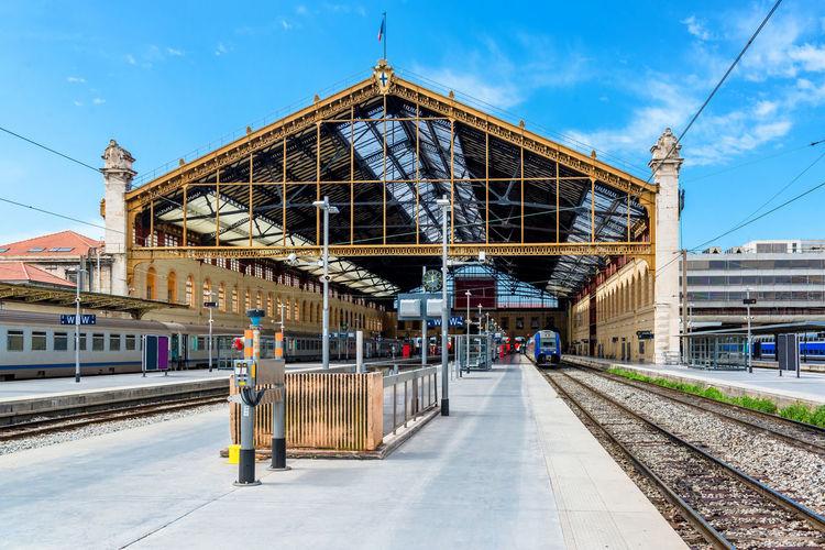 Gare de marseille-saint-charles railroad station against blue sky