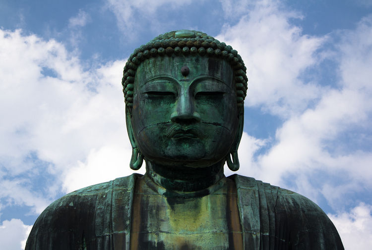 Blue Buddha Buddhism Close-up Cloud Cloud - Sky Cloudy Day High Section Low Angle View No People Outdoors Sky Travel Destinations