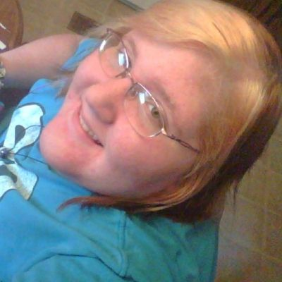 Bored Blonde_and_red_hair Hazel Eyes  Happy Smile
