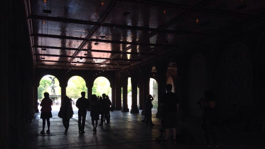 -Under the Bethesda Arches- NYC NYC Photography NYC Street NYC Street Photography Bethesda Fountain Bethesda Bethesda Terrace Light And Shadow Silhouette Contrast EyeEm Best Shots The Purist (no Edit, No Filter) On The Go  People Watching Beautiful Day Bright