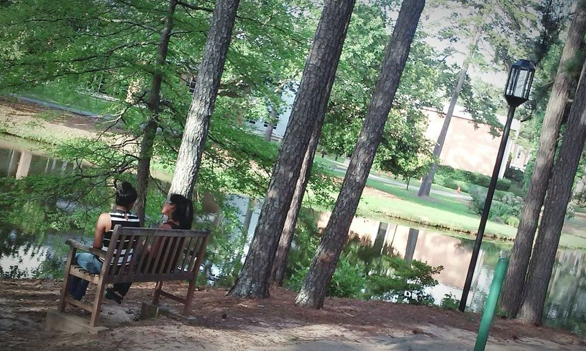 Enjoying the park , and the loving people there 😄. Photography Park People Nature Trees Lake Life Clayton State