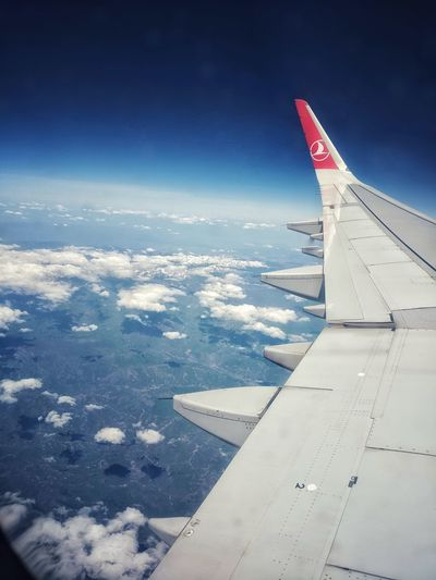 Türkisch Airlines Aircraft Wing Airplane Wing Airplane Wings Wing Türkisch Airlines Turkey Travel Travelling Aircraft In The Sky Aircraft Sea Aerial View Space Travel Vehicle Plane Aeroplane Flight Fly