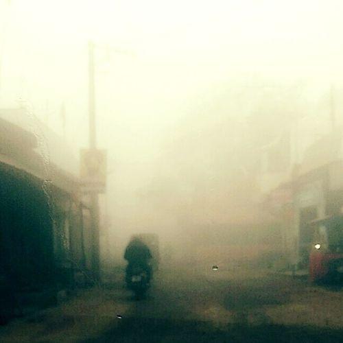 Fog against sky