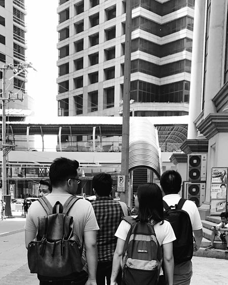 Afternoon After Work Streetphotography Streetphoto_bw Candid Noon City Lifestyles Men Rear View Built Structure Architecture Outdoors City Life Women People Adults Only Black And White Eyeem Philippines