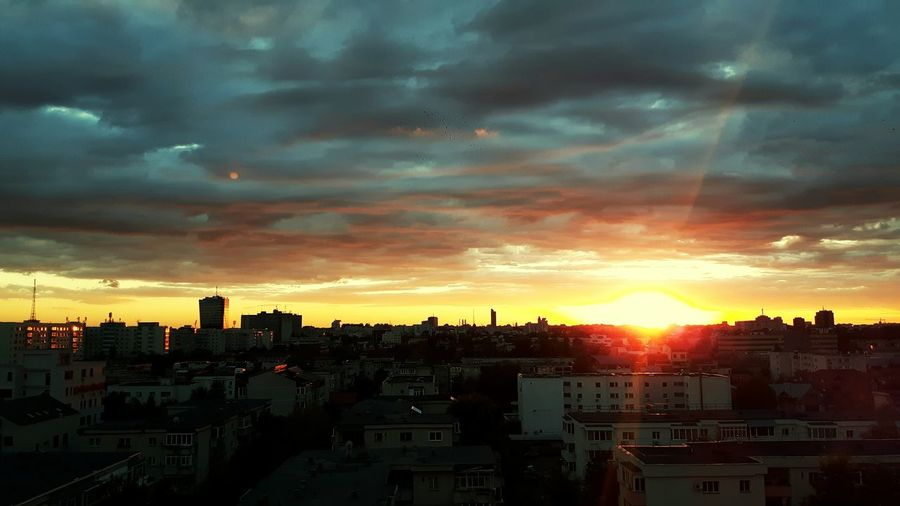 Bucharest Cityscape Cloud - Sky Sunset No People Skyscraper Architecture Travel Destinations Urban Skyline Downtown District City Sky Dramatic Sky Building Exterior Built Structure Outdoors First Eyeem Photo