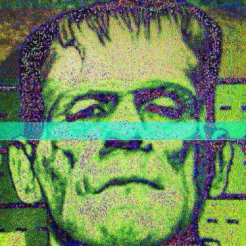 Boris Karloff Frankenstein Classic Horror Horror Glitch Glitchart The Cinematography Of Monsters *glitched* Abstract