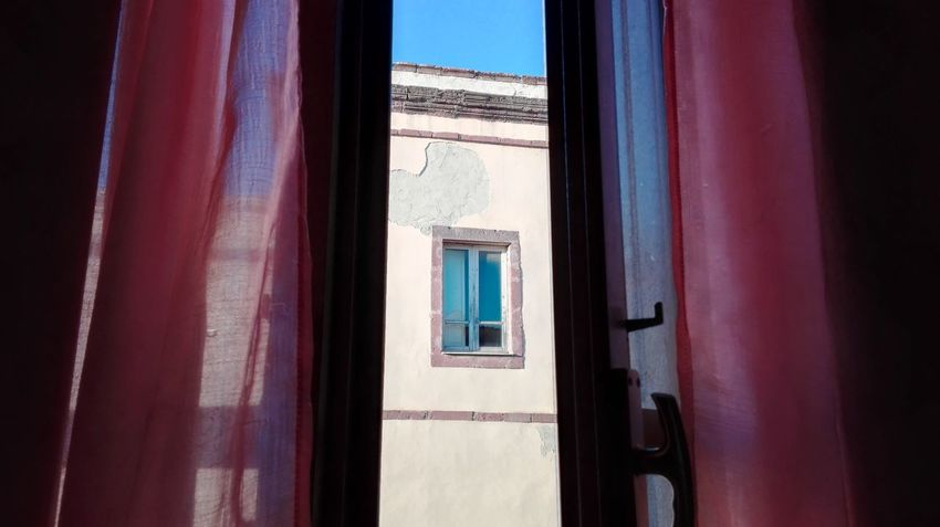 My Favorite Place Sardinia Window I Love Pink Color My House Pink Color Pink Sky Old House No Filter No Edit Misterious Sardinia Experience Sky Blue Huaweiphotography Old Town Old Buildings