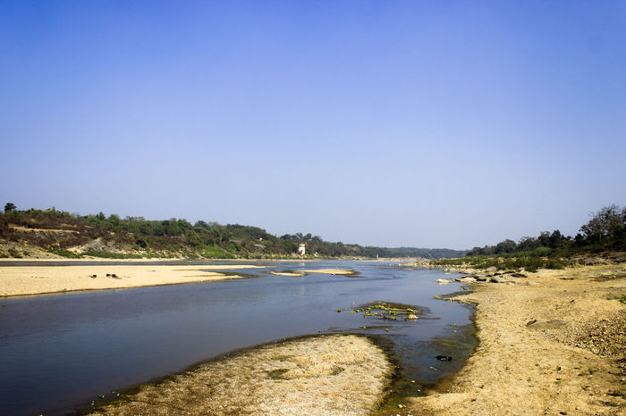 Damodar river, dhanbad, jharkhand, India. Indian River River View Riverside Beach Beauty In Nature Blue Clear Sky Day Landscape Nature No People Outdoors River Riverbank Sand Scenics Sea Sky Summer Tranquil Scene Tranquility Travel Destinations Tree Vacations Water