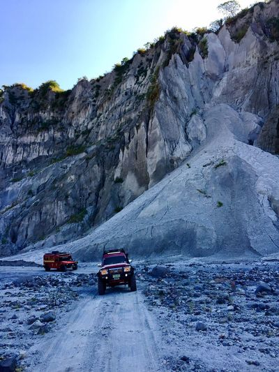 Transportation Mountain Land Vehicle Nature Day Rock - Object Road No People Landscape Outdoors Beauty In Nature Sky Pinatubo