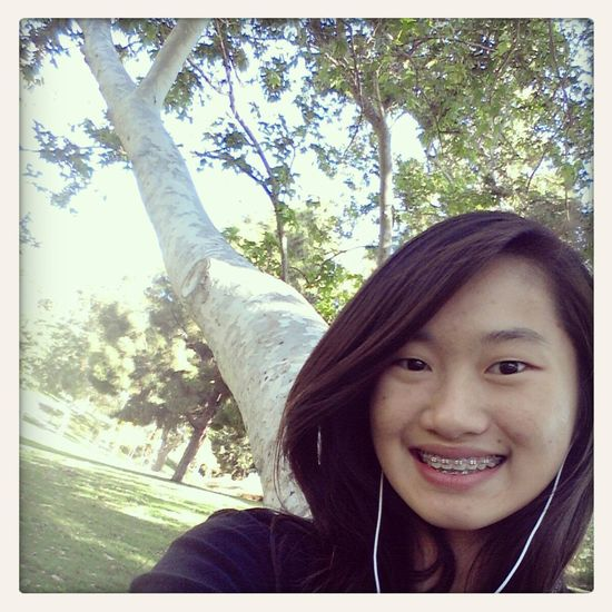 selfie with the tree! Selfie Uci Park Nature Bored