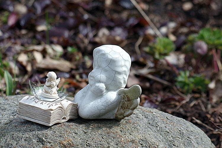 Engel im Frühjahr Angel Creativity Draußen Engel Garden Garten Kreativ Kreativität Natur Nature No People Outdoor Stein Stone Weiss White Art Is Everywhere