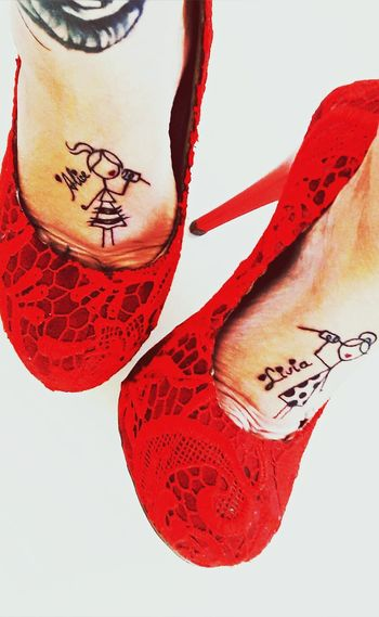 Red Toeshoes Redshoes Sensual Portrait Suggetion Fetiche Women Sexylady Tattoo Girl Tattoogirl Vicius See You… Kiss♡