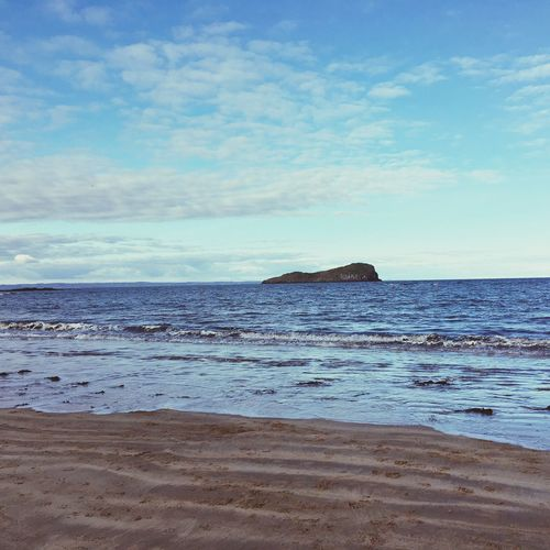Scotland Beach Blue Sandy Winter Berwick Sea