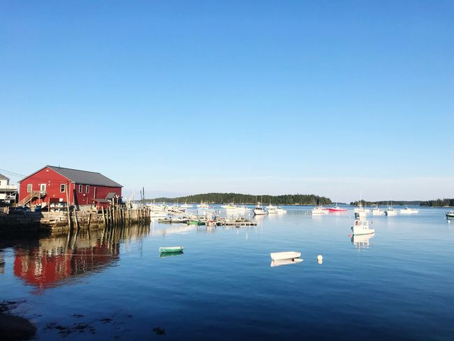 Deer Isle, Stonington Deer Isle Maine Water Sky Nautical Vessel Copy Space Nature Clear Sky Architecture Waterfront Sea No People Blue Sailboat