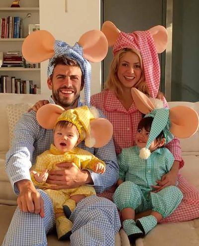 Milan Saçha Gerard Piqué Shakira happy Halloween Halloween