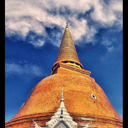 Pra prathom pagoda Nakhonpathom Thailand Pagoda Golden Marble Buddhism Buddhist Biggest Igoftheday 6tagram