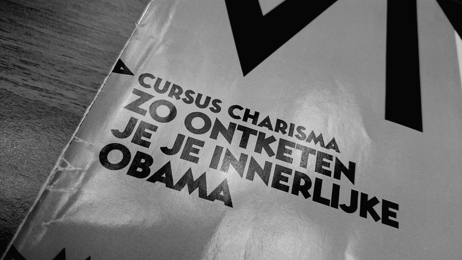 Eyecatching Quote on the Front Page of the Dutch Viva Magazine Translation Charisma Course UNLEASH Your Inner Obama