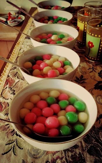 Today is 冬至节 (dongzhi festival) for all of th chinese who still celebrate it. it is one of the tradition when we eat onde(the green white pink thing in the bowl) as much as our age Chineseculture Chinese Food Chinesetraditionalculture Chinese Traditional Culture Chinese Asian Culture Culture