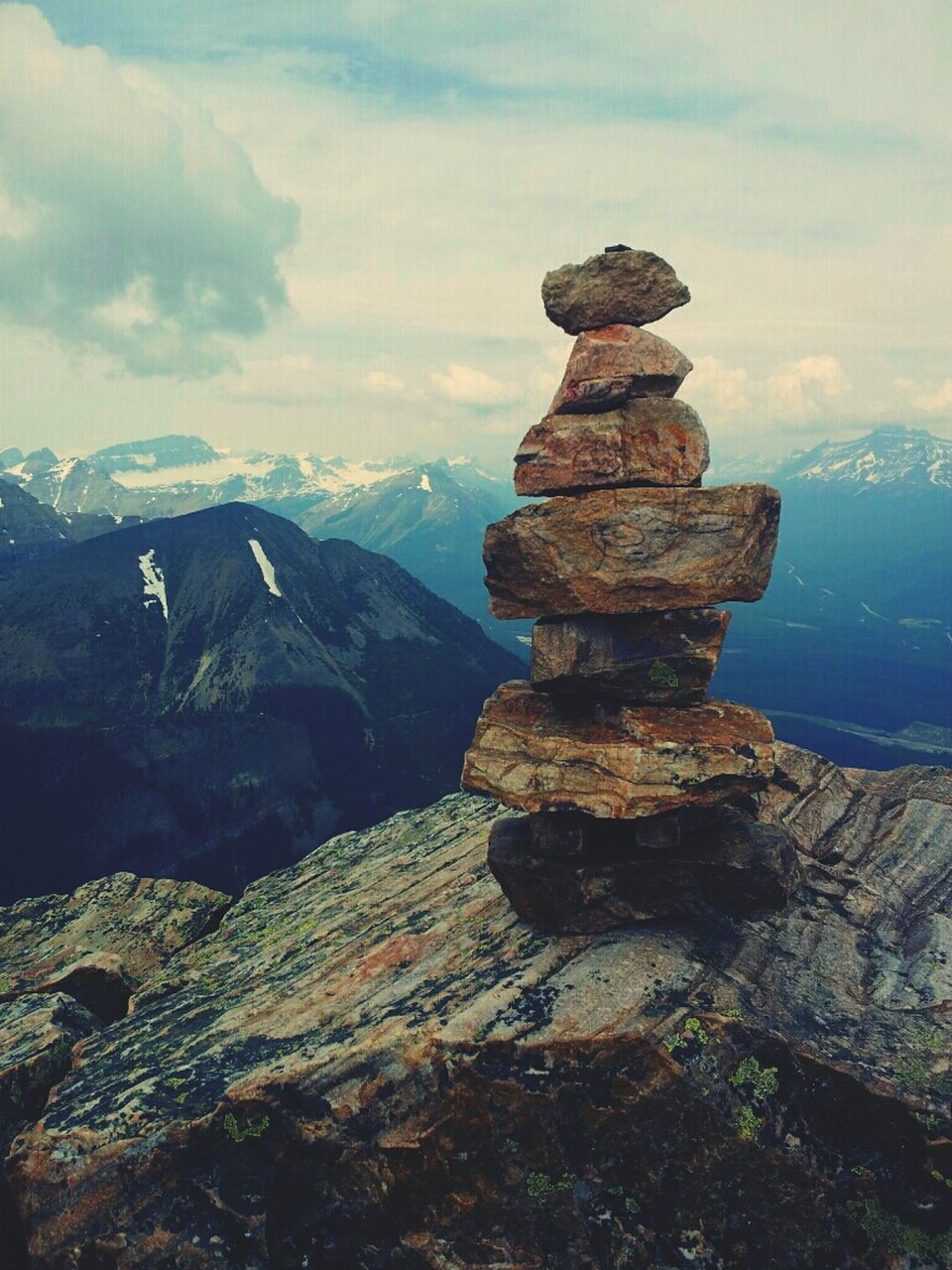 stack, rock, cloud - sky, sky, solid, balance, rock - object, mountain, tranquility, nature, stone - object, beauty in nature, scenics - nature, zen-like, tranquil scene, no people, day, stone, land, outdoors, pebble, mountain peak