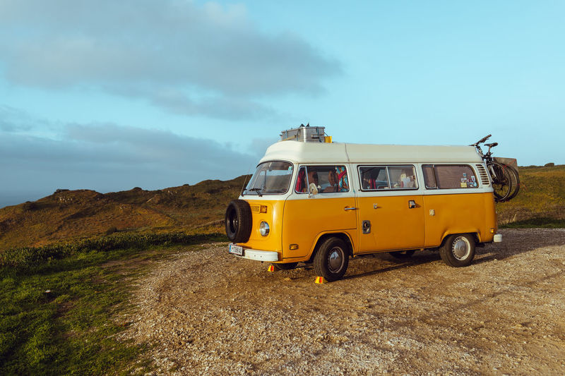 Freedom Sony RX1 Trip Beauty In Nature Car Day Hippie Landscape Lifestyles Lisbon Mountain Nature Outdoors Real People Sky Transportation Volkswagenbus