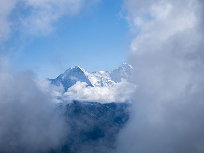 Cloudy mountainview Cloudy Beauty In Nature Blue Cloud - Sky Cold Temperature Day Eiger Moench Jungfrau Environment Idyllic Mountain Mountain Peak Mountain Range Mountains Nature Niederhorn No People Outdoors Scenics - Nature Sky Snow Snowcapped Mountain Switzerland Tranquil Scene Tranquility Winter My Best Photo
