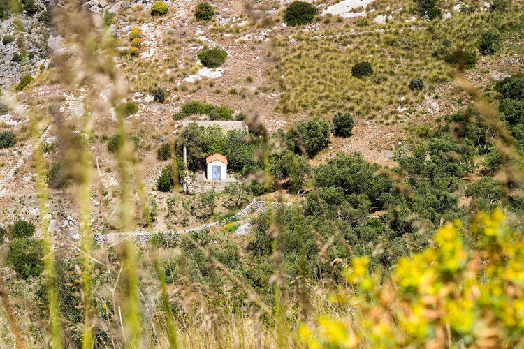 A nice view at small huts when hiking around the beautiful amalfi coast. Beauty In Nature Day Landscape Nature No Persons Outdoors Plant Summer, Italy, Small Hut, Dry, Amalfi Coast