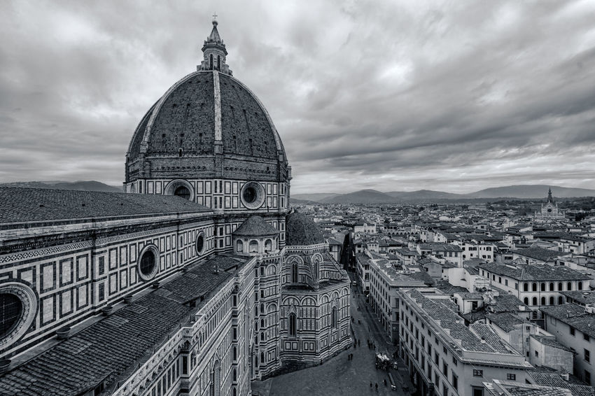 Duomo View Architecture Black & White Blackandwhite Cathedral Church City Cloud Cloud - Sky Dome Europe EyeEm Best Edits EyeEm Best Shots EyeEm Best Shots - Black + White Famous Place Firenze Florence Italy Religion Sky Spirituality Travel Travel Travel Destinations Travel Photography Traveling