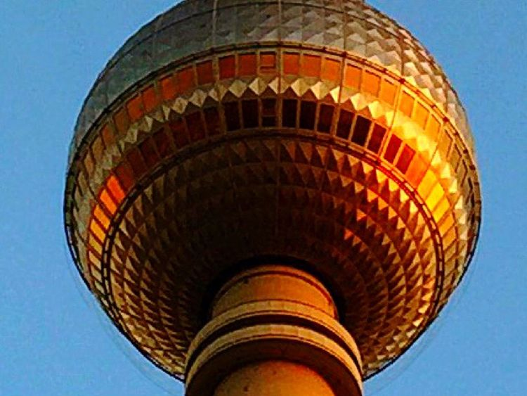 Sunset on Berlin Funkturm Tower Alexanderplatz Traveling Cityscapes EyeEm Best Shots Today's Hot Look IPhoneography Streetphotography