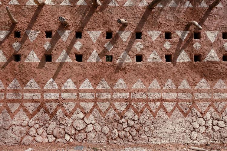 Full frame shot of old building roof