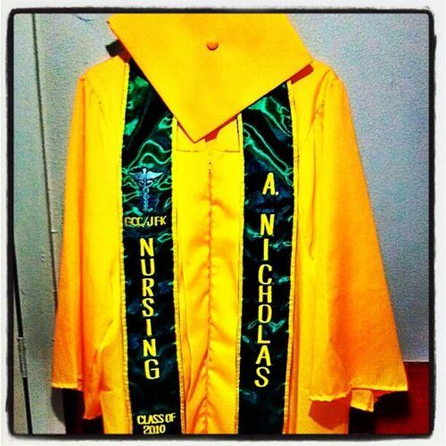 Missin' high school. ClassOf2010 JFK Islander Alumni forevergreen&goldcap&gown