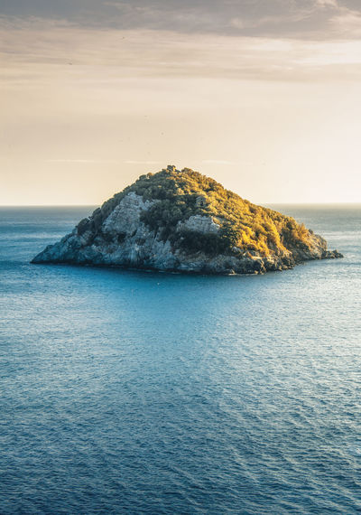 Sea Water Beauty In Nature Scenics - Nature Sky Tranquil Scene Waterfront Tranquility Horizon Over Water Horizon Idyllic No People Nature Rock Rock - Object Rippled Cloud - Sky Solid Outdoors Stack Rock Island EyeEmNewHere Liguria EyeEm Nature Lover Winter