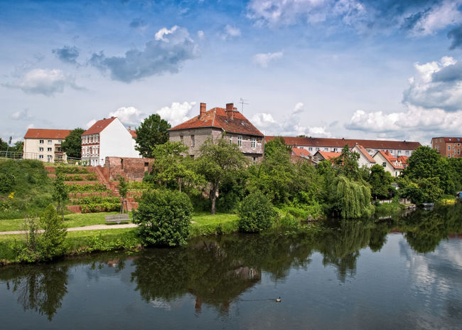 Scenes from Rathenow Germany Architecture Beauty In Nature Brandenburg Building Exterior Built Structure City Cloud - Sky Colorful Germany Havelland Nature No People Outdoors Rathenow Reflection River Scenics Sky Summer Tranquil Scene Tranquility Travel Travel Destinations Tree Water