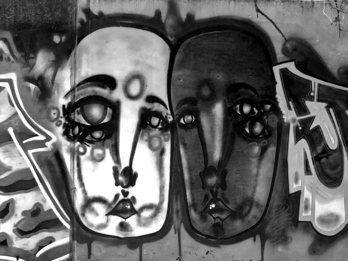 Faces on a Wall