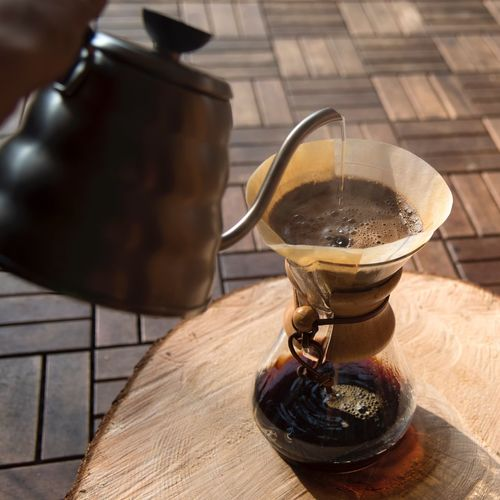 Morning Breakfast Coffee Break Relax Sunlight Chemexcoffee Chemex Handbrewcoffee Handbrew Coffee Time Design Brewing Coffee Food And Drink Table High Angle View Freshness Still Life Wood - Material Drink
