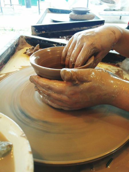 I am the clay, your are the potter #wheel #spin #handsatwork #HardWork #labour #enterprise #creative #pottery #cambodia #Class #learning #hands On #handcrafted #clay #bowl #burnt #potterswheel #craft #skill #earthen Human Hand Business Finance And Industry Close-up Food And Drink