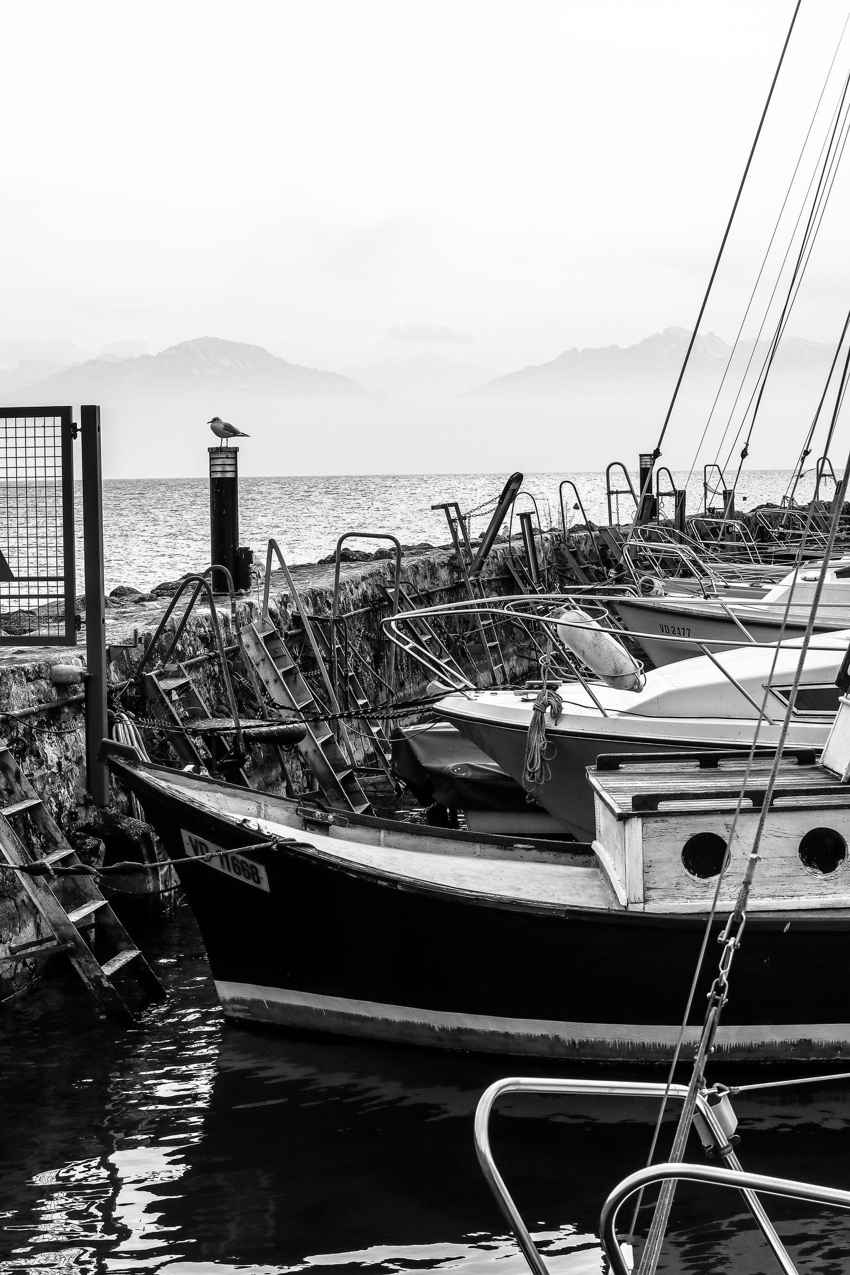 nautical vessel, water, sea, moored, transportation, mode of transport, sky, no people, nature, day, outdoors, harbor, dock