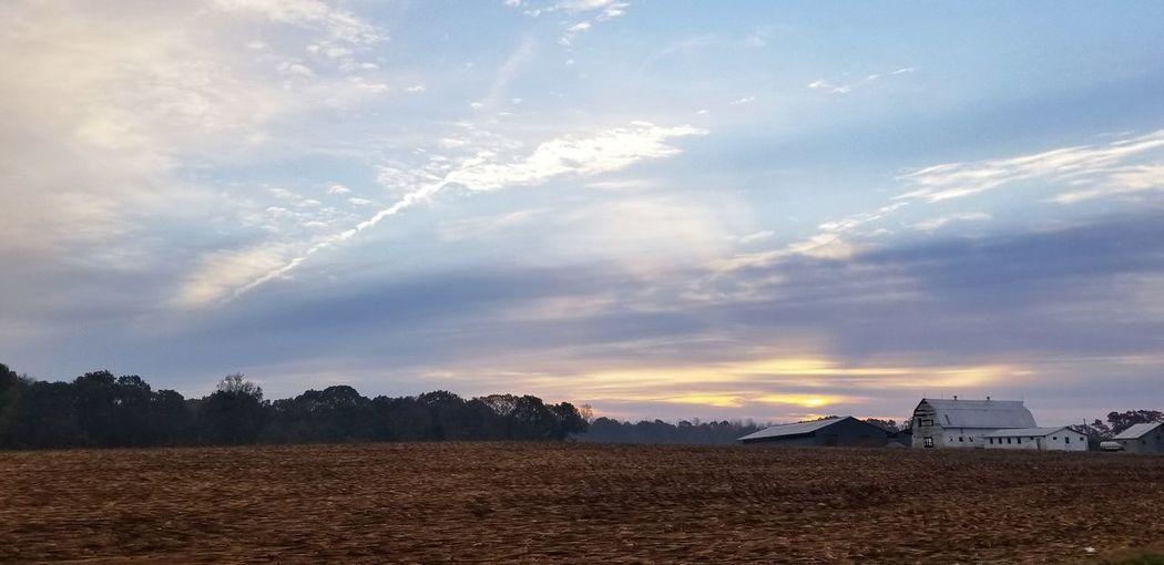 Farmland Farm Country Backgrounds Pink Sky Barn Agriculture Sky Landscape Cloud - Sky Farmland Scenics Corn Corn - Crop