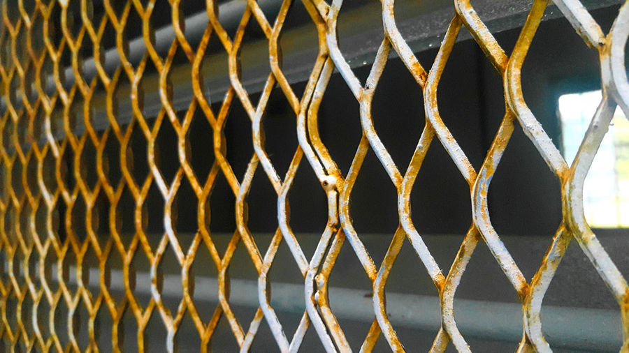 Full frame shot of rusty chainlink fence