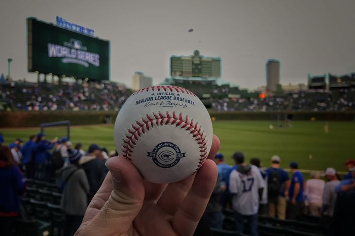 This is the most expensive batting practice ball I have ever caught Chicago Cubs  Baseball