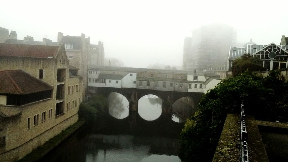 Fog on the Avon River Avon Fog Tree Water Riverside Bridge - Man Made Structure Pultney Bridge Travel Destinations City No People Nature Sky Day ArchitectureOutdoors Horizontal