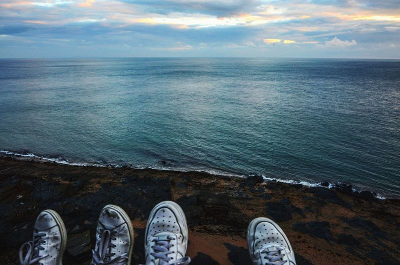 Shoe Oldie  Personal Perspective Nature Scenics Low Section Lifestyles Beauty In Nature Tranquility Human Leg Standing View My Year My View